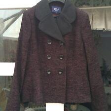 Ella by Viyella Black and Raspberry Wool Jacket. Size 16 BARGIN