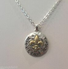 FLEUR DE LIS /NEW ORLEANS / NECKLACE- GOLD/SILVER