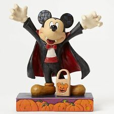 # New JIM SHORE DISNEY Figurine MICKEY MOUSE VAMPIRE Halloween Pumpkin DRACULA