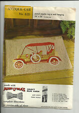 PRINTED CANVAS TO MAKE PUNCH NEEDLE RUG OR WALL HANGING-ANTIQUE CAR DESIGN