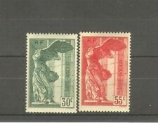 """FRANCE STAMP TIMBRE 354/55 """" VICTOIRE SAMOTHRACE LOUVRE 1937 """" NEUFS xx SUP H610"""
