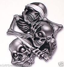 Hear Speak See No Evil Skull Decal Skulls Window Sticker Window Decal Decals Ops