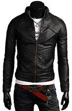 Jacke aus Leder Mann Männer Leder Jacke Kleidung Blouson Homme Cuir N10