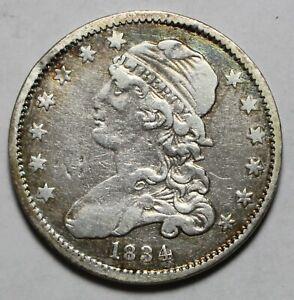 1834 Capped Bust Quarter  O over F Damage WB370