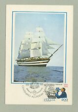 NAVE SCUOLA AMERIGO VESPUCCI   CARTOLINA FILATELICA 1981  MAXI CARD