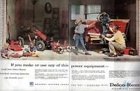 1956 2 PAGE ORIGINAL VINTAGE DELCO-REMY CAR PARTS MAGAZINE AD