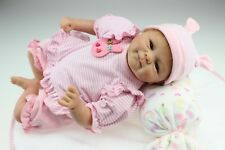"""18"""" 45cm Reborn Baby Boy Doll Realistic Lifelike Soft Silicone Newborn Dolls"""