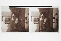 Melon Cappello UK Francia ? Foto N Placca Stereo 6x13cm Vintage