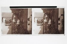 Melon chapeau UK France ? Photo N Plaque Stereo 6x13cm Vintage