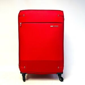 Samsonite Base Boost Spinner Extra Large Expandable Suitcase 78cm Red 112.5L New