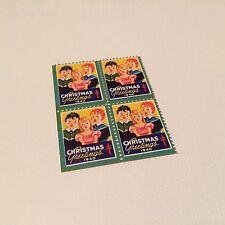 Block (4x) Christmas Seals Cinderella Stamps Unused Mint US MNH-OG