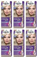 6 x Schwarzkopf Palette Intensive Color Cream 10-1 (C10) Frosty Silver Blond