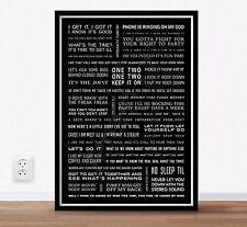 Beastie Boys Song Lyrics Poster A4
