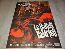 LE BARON VAMPIRE  !  affiche cinema epouvante 1967