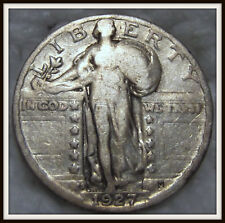 1927-S 25C Standing Liberty Silver Quarter (VG)