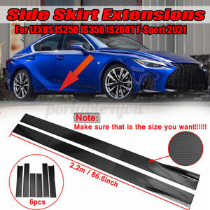 2.2m Carbon Look Splitter Spoiler Side Skirt For LEXUS IS200T IS300 GS300 GS450H