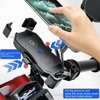 Chargeur de support de téléphone de moto de moto Qi rapide sans fil + support DE