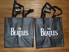 """2 TOTES The Beatles Shopper Tote Re-Useable Shopping Bag 12"""" x 13.5"""" x 7.5"""" NEW"""