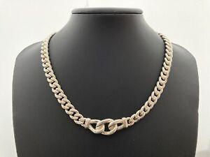 Women's Heavy Sterling Silver Necklace.   18 inch
