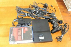 Slimline PS2 Sony Playstation 2 Console  Bundle 2 Games Dual Shock & Memory Card