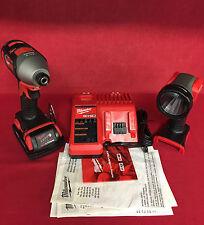 NEW Milwaukee M18 18-V Lithium-Ion Cordless Impact Driver/Worklight Kit 2656-21L