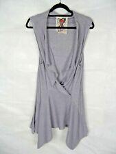 RIVER ISLAND Waistcoat Size 12 Grey Sleeveless Cardigan Cover-Up Lagenlook