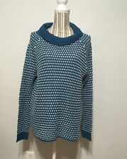Erica Teal & White Sweater Missy Large