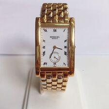 Raymond Weil Geneve Mens Watch 18k Gold Electroplated Patented Model