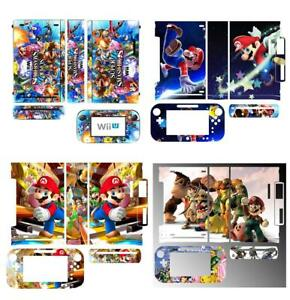 Super Mario Skin Sticker Cover for Nintendo Wii U Console & Controller skins