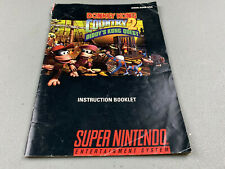 Donkey Kong Country  2 Manual Only Super Nintendo SNES Genuine OEM Authentic