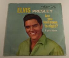 Elvis Presley RCA Victor Vintage Collectible Record Are You Lonesome To-night