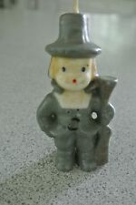 VINTAGE GURLEY MALE PILGRIM CANDLE MADE IN BUFFALO NY