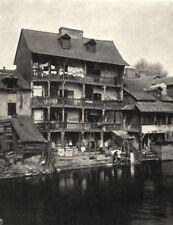 ILLE-ET-VILAINE. Maison du pont Saint-Martin, à Rennes 1902 old antique print
