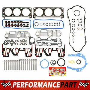 """Full Gasket Set & Head Bolts Chevrolet GM Buick 96-99 3.1L OHV V6 """"2nd Design"""""""