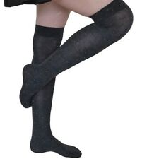 1 Pair Gipsy Speckled Over Knee Socks One Size 66 Acrylic 2 Nylon 11 Viscose Charcoal