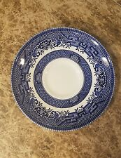 Churchill Blue Willow Flat Saucer English Pottery