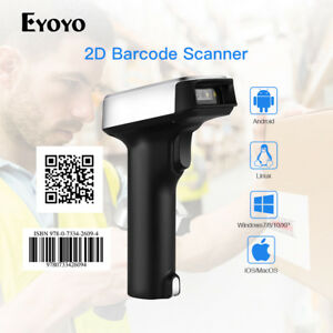 USB Bluetooth Wired&2.4G Wireless 2D Barcode Scanner Bar + USB Receiver for PC