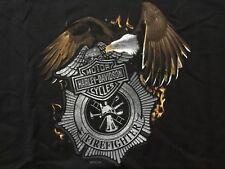 Harley Davidson Firefighter Eagle  Black Shirt Nwt Men's XXL
