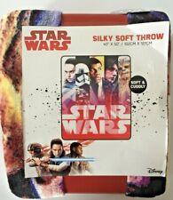 """Star Wars Throw. Disney The Last Jedi  Silky Soft Throw 40"""" X 50""""-New"""