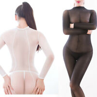 220lbs Plus Size Women Sheer Jumpsuit Lingerie Full Bodystocking Bodysuit Tights
