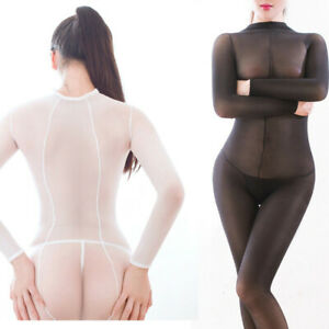 220lbs Plus Size Women Sheer Jumpsuit Lingerie Full Bodystocking Bodysuit Tights