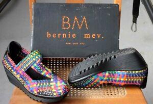 Bernie Mev      Slip On     Wedge    Woven   Rainbow     Shoes  9    EUC