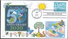 EARTH DAY 2020 50 YRS  BUTTERFLY BEE BIRD FLOWERS - LOVE SKYWRITING FDC- DWc