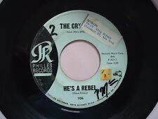 "THE CRYSTALS  ""HE'S A REBEL""   45 RPM Vinyl  Record  music  ""I LOVE YOU EDDIE"""