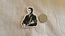 Black and White Elvis With Guitar Sticker Decal