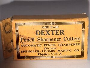 Vintage (1920s) Dexter Pencil Sharpener Cutters (pair) in original box!
