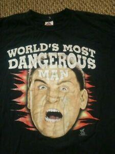 Ken Shamrock WWE WWF Vintage Wrestling T-Shirt Size XXL UFC MMA Black