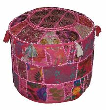 Indien Fancy Bohemian Patchwork Ottoman Pouffe Cover Ottoman Ethnic Decor