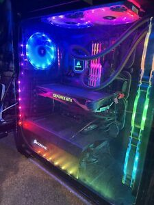 Custom Gaming PC Intel i7-7700k Gtx 1070 1TB SSD WI-FI 32GB RAM Full Setup