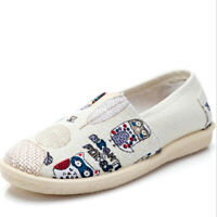 Women's Casual Flats Shoes Driving Loafers Lazy Moccasin Soft Sole Canvas Shoes